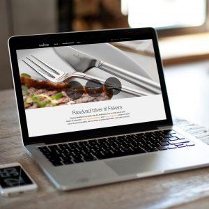Raadvad webdesign on laptop